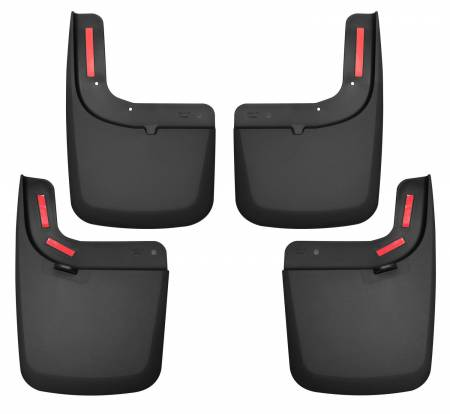 Husky Liners - Husky Liners 17 Ford F-250 Super Duty / F-350 Super Duty Front and Rear Mud Guards (w/ Flares) Black