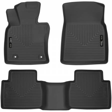 Husky Liners - Husky Liners 2018 Toyota Camry Weatherbeater Black Front & 2nd Seat Floor Liners
