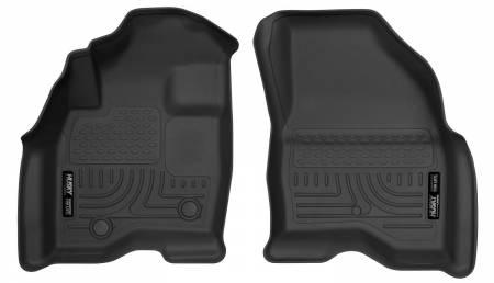 Husky Liners - Husky Liners 15-17 Ford Explorer WeatherBeater Black Front Floor Liners