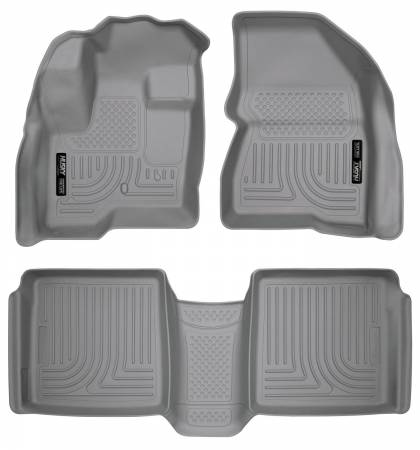 Husky Liners - Husky Liners 09-12 Ford Flex/10-12 Lincoln MKT WeatherBeater Combo Gray Floor Liners