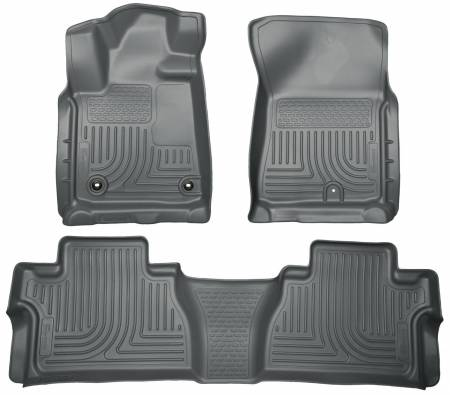 Husky Liners - Husky Liners 14 Toyota Tundra Weatherbeater Grey Front & 2nd Seat Floor Liners