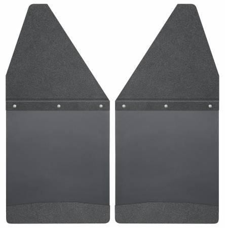 Husky Liners - Husky Liners GM 99-16 Silverado/Sierra 12in W Black Top & Weight Kick Back Front Mud Flaps