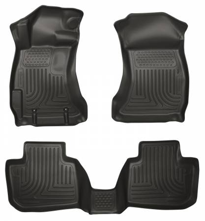 Husky Liners - Husky Liners 10-12 Subaru Legacy/Outback WeatherBeater Combo Black Floor Liners