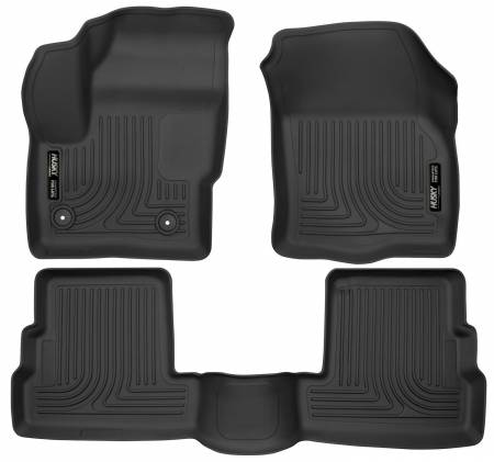 Husky Liners - Husky Liners 2015 Lincoln MKC WeatherBeater Black Front & Second Seat Floor Liner
