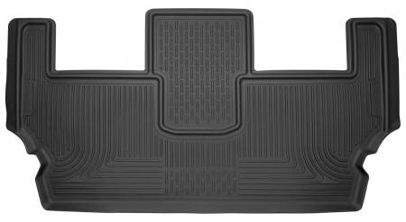 Husky Liners - Husky Liners 2017 Chrysler Pacifica (Stow and Go) 3rd Row Black Floor Liners