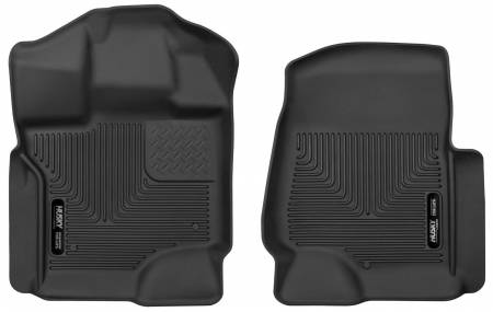 Husky Liners - Husky Liners 15-17 Ford F-250 Super Duty Crew Cab X-Act Contour Black Front Floor Liners