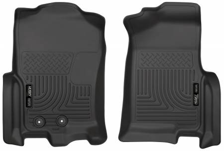 Husky Liners - Husky Liners 2015 Ford Expedition/Lincoln Navigator WeatherBeater Front Black Floor Liners