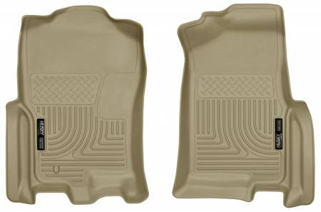 Husky Liners - Husky Liners 07-10 Ford Expedition / Lincoln Navigator WeatherBeater Tan Front Floor Liner