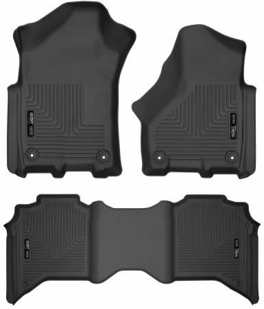 Husky Liners - Husky Liners 2019+ Ram 2500 Crew Cab Weatherbeater Black Front & 2nd Seat Floor Liners