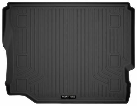 Husky Liners - Husky Liners 2018 Jeep Wrangler Unlimited (No Subwoofer) WeatherBeater Black Rear Cargo Liner