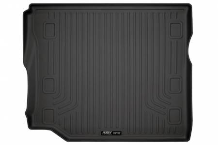 Husky Liners - Husky Liners 2018 Jeep Wrangler Unlimited (w/Subwoofer) WeatherBeater Black Rear Cargo Liner