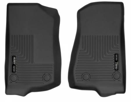 Husky Liners - Husky Liners 2018 Jeep Wrangler WeatherBeater Front Row Black Floor Liners
