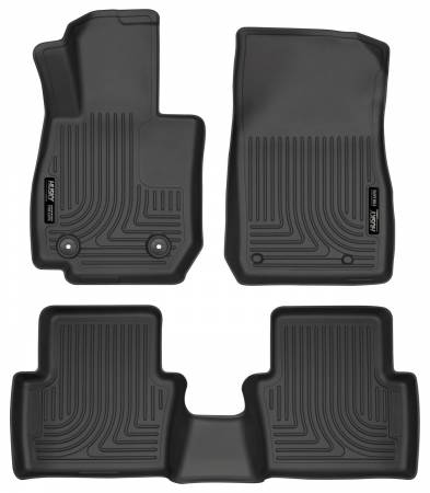 Husky Liners - Husky Liners 2017 Mazda CX-3 Weatherbeater Black Front & 2nd Seat Floor Liners