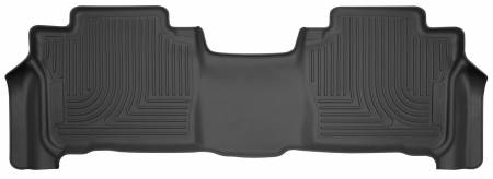 Husky Liners - Husky Liners 13-16 Lexus LX570 / 13-16 Toyota Land Cruiser WeatherBeater 2nd Row Black Floor Liners