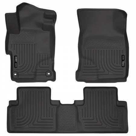 Husky Liners - Husky Liners 2014 Honda Civic Sedan WeatherBeater Black Front & 2nd Seat Floor Liners
