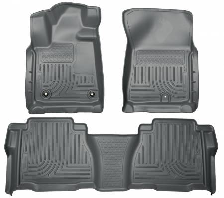 Husky Liners - Husky Liners 12-13 Toyota Tundra Weatherbeater Grey Front & 2nd Seat Floor Liners