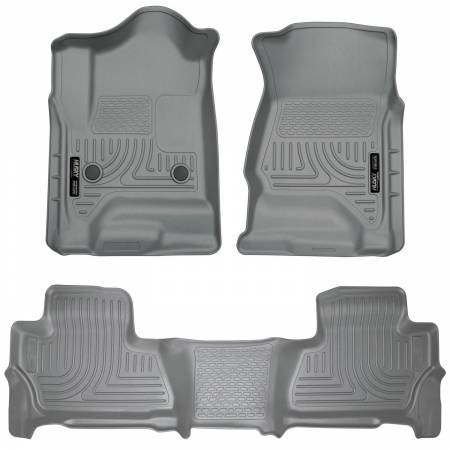 Husky Liners - Husky Liners 2015 Chevy/GMC Suburban/Yukon XL WeatherBeater Combo Gray Front & 2nd Seat Floor Liners