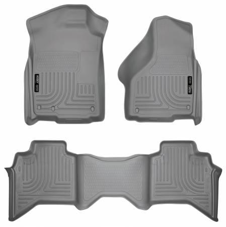 Husky Liners - Husky Liners 09-12 Dodge Ram 1500 Quad Cab WeatherBeater Combo Gray Floor Liners