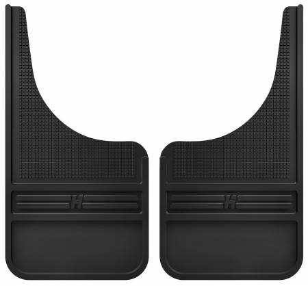 Husky Liners - Husky Liners Universal 12in Wide Black Rubber Front Mud Flaps w/o Weight