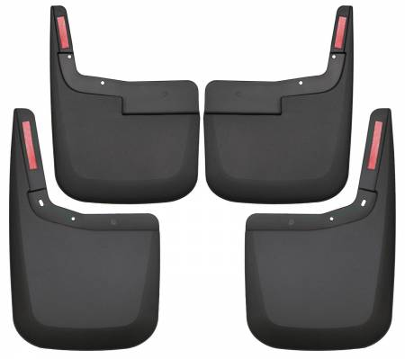 Husky Liners - Husky Liners 2015-2017 Ford F-150 w/o Fender Flares Front and Rear Mud Guards - Black