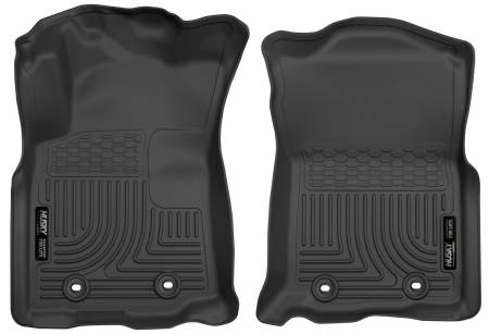 Husky Liners - Husky Liners 2018 Toyota Tacoma Double Cab w/ Standard Trans WeatherBeater Black Front Floor Liners
