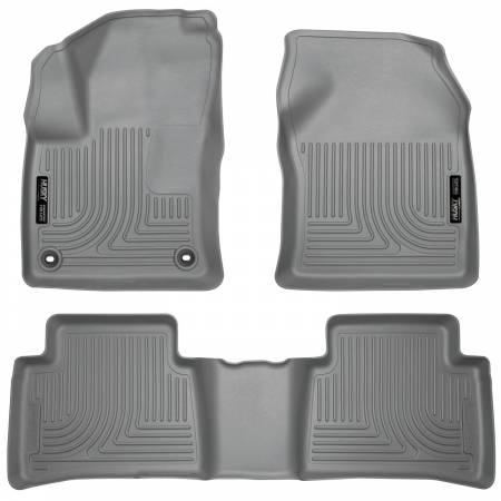 Husky Liners - Husky Liners 2016 Toyota Prius WeatherBeater Front and 2nd Seat Gray Floor Liners