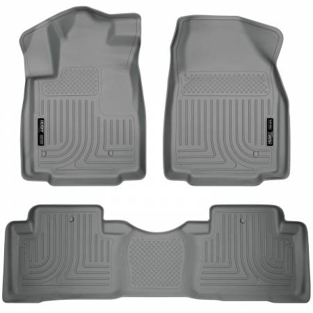 Husky Liners - Husky Liners 09-12 Honda Pilot (All) WeatherBeater Combo Gray Floor Liners (One Piece for 2nd Row)