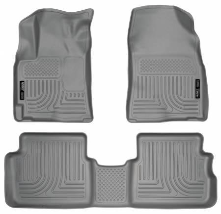 Husky Liners - Husky Liners 09-12 Toyota Corolla/Matrix/Pontiac Vibe (FWD) WeatherBeater Combo Gray Floor Liners