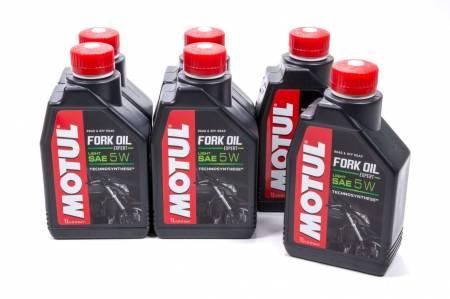 Motul - Motul Shock Oil - Fork Oil Expert Light - 5W - Semi-Synthetic - 1 L - Set of 6