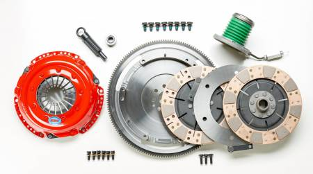 South Bend Clutch / DXD Racing - South Bend 99-04 Ford Mustang 4.6L (TR3250/TR3650 Trans) Comp Dual Disc Kit w/ Flywheel