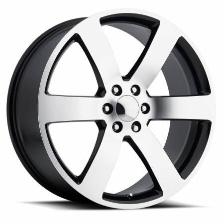 Factory Reproductions Wheels - FR Series 32 Replica Tahoe Wheel 24X10 6X5.5 ET31 78.1CB Gloss Black Machine Face