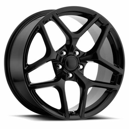 Factory Reproductions Wheels - FR Series 27 Replica Camaro Z28 Wheel 20X11 5X120 ET43 66.9CB Gloss Black