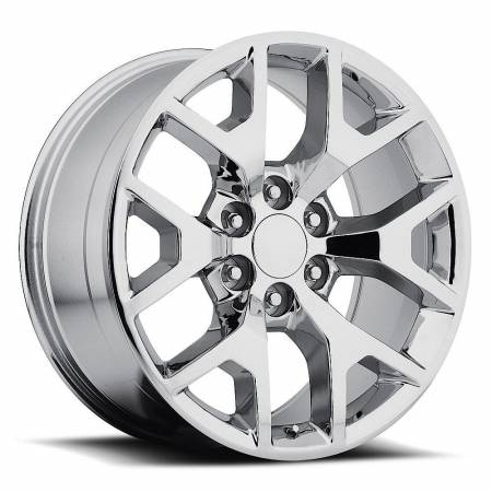 Factory Reproductions Wheels - FR Series 44 Replica GMC Sierra Wheel 24X10 6X5.5 ET31 78.1CB Chrome