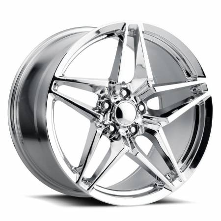 Factory Reproductions Wheels - FR Series 29 Replica Corvette ZR1 Wheel 18X9.5 5X4.75 ET40 70.3CB Chrome