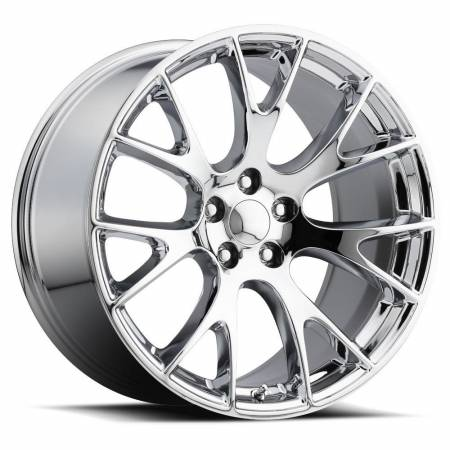 Factory Reproductions Wheels - FR Series 70 Replica Hellcat Wheel 22X10 5X115 ET18 71.5CB Chrome