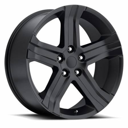Factory Reproductions Wheels - FR Series 69 Replica Ram 1500 Wheel 22X9 5X5.5 ET20 77.8CB Satin Black