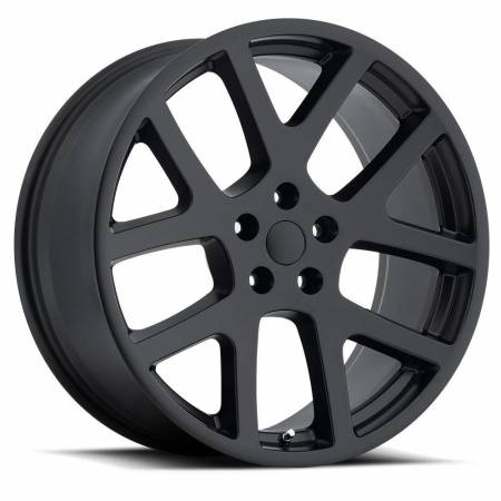 Factory Reproductions Wheels - FR Series 64 Replica Dodge Viper Wheel 22X10 5X115 ET18 71.5CB Satin Black