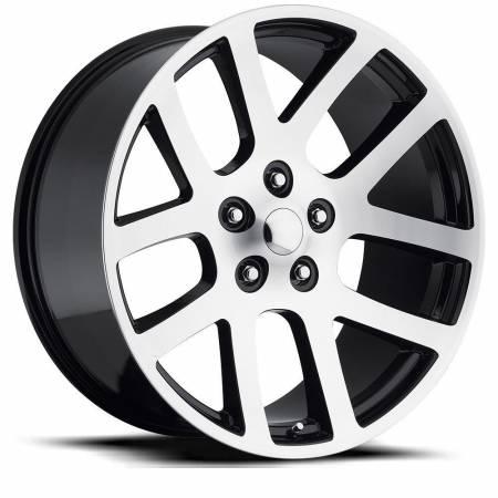 Factory Reproductions Wheels - FR Series 60 Replica Ram 1500 Wheel 24X10 5X5.5 ET25.4 77.8CB Gloss Black Machine Face