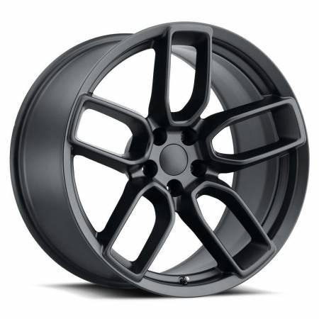 Factory Reproductions Wheels - FR Series 74 Replica Hellcat Wheel 20X10.5 5X115 ET22 71.5CB Satin Black
