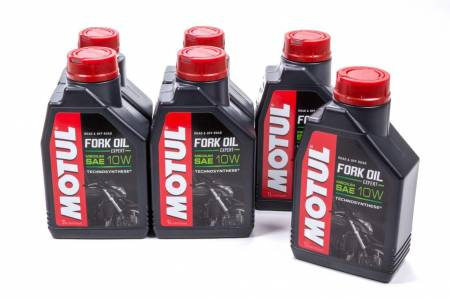Motul - Motul Shock Oil - Fork Oil Expert Medium - 10W - Semi-Synthetic - 1 L - Set of 6