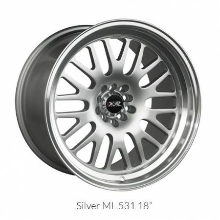XXR Wheels - XXR Wheel Rim 531 18X11 5x100/5x114.3 ET20 73.1CB Hyper Silver / ML