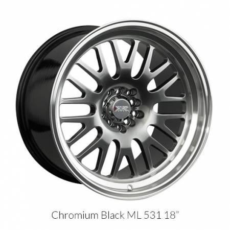 XXR Wheels - XXR Wheel Rim 531 18X8.5 5x100/5x114.3 ET20 73.1CB Chromium Black / ML