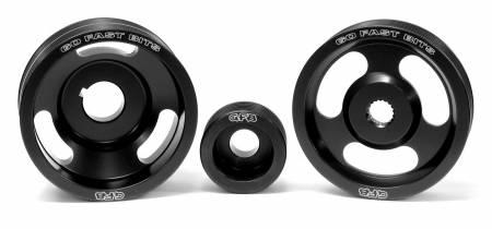 Go Fast Bits - GFB 04-10 WRX/STI 3 Piece Under-Drive Pulley Kit w/ Belts (Crank Alternator & Power Steering)