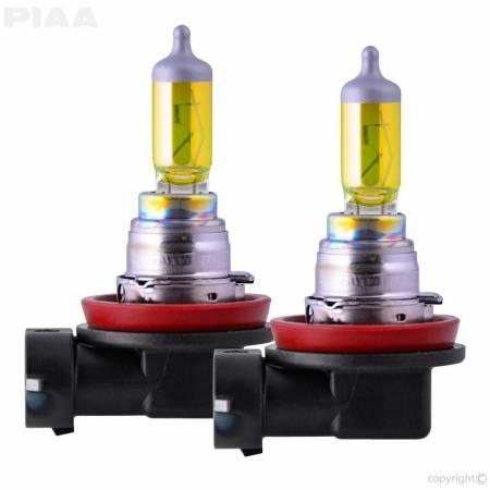 PIAA - PIAA H16 Solar Yellow Twin Pack Halogen Bulbs