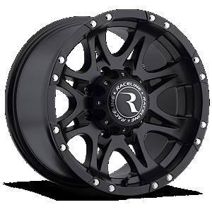 Raceline Wheels - Raceline Wheels Rim RAPTOR BLACK 16X8 8X6.5 0mm
