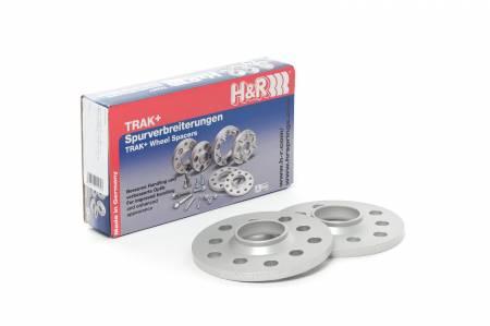 H&R - H&R Trak+ 15mm DR Wheel Spacers 5/120 Center Bore 72.5 Stud Thread 14x1.25 - Black (Pair)