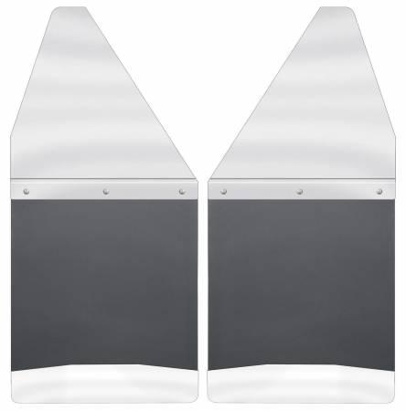 Husky Liners - Husky Liners GM 88-00 K1500/K2500 / 99-16 Silverado/Sierra 12in W SS Top Kick Back Front Mud Flaps