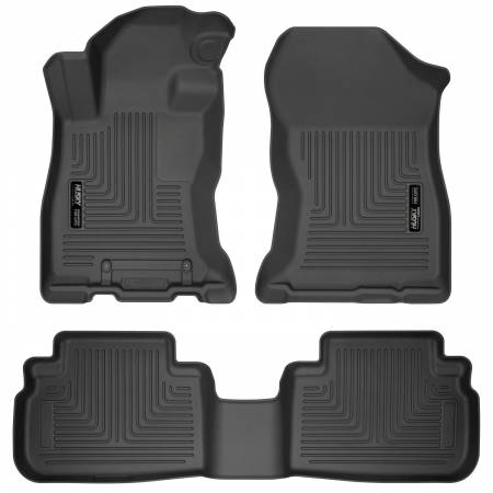 Husky Liners - Husky Liners 2019 Subaru Forester Weatherbeater Black Front & 2nd Seat Floor Liners