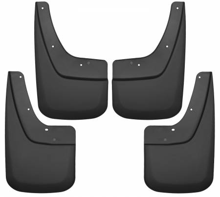 Husky Liners - Husky Liners 14-17 GMC Sierra 1500 / 15-16 Sierra 2500 HD Front and Rear Mud Guards - Black