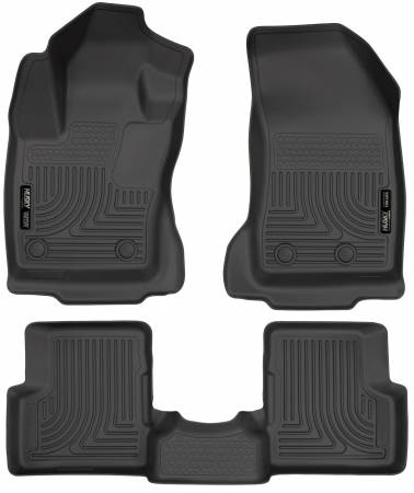 Husky Liners - Husky Liners 2015 Jeep Renegade Weatherbeater Black Front and Second Row Floor Liners